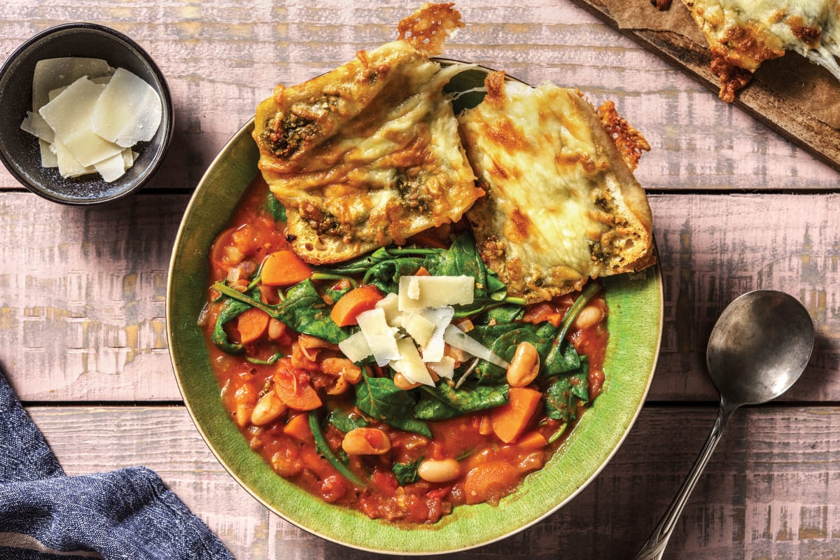 Tuscan Veggie Bean Soup