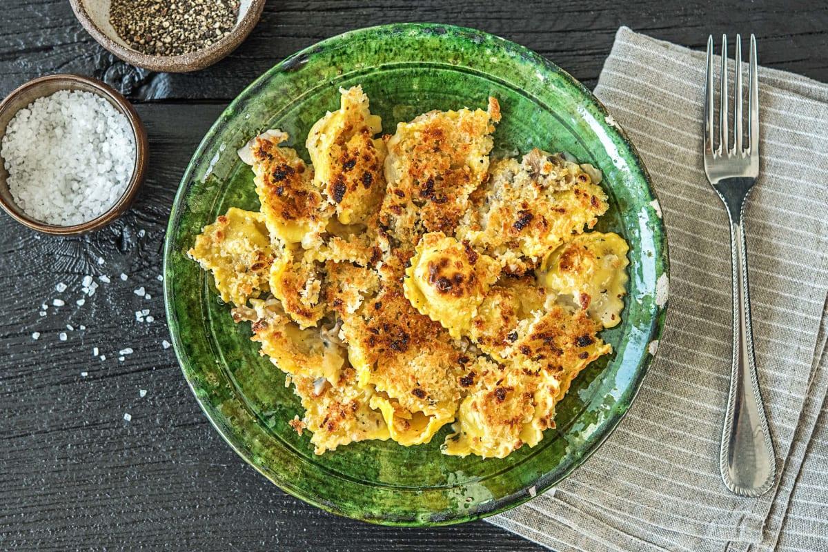 One Pan Mushroom Ravioli Recipe Hellofresh