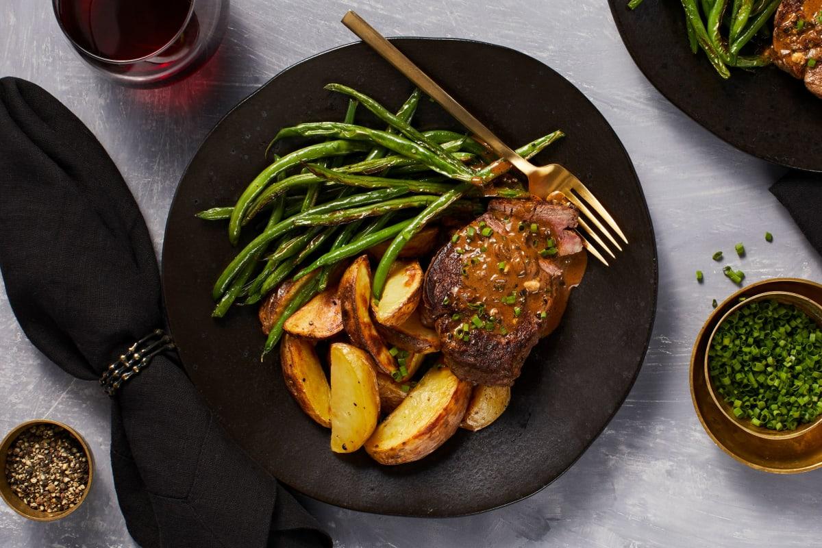 Beef Tenderloin Au Poivre