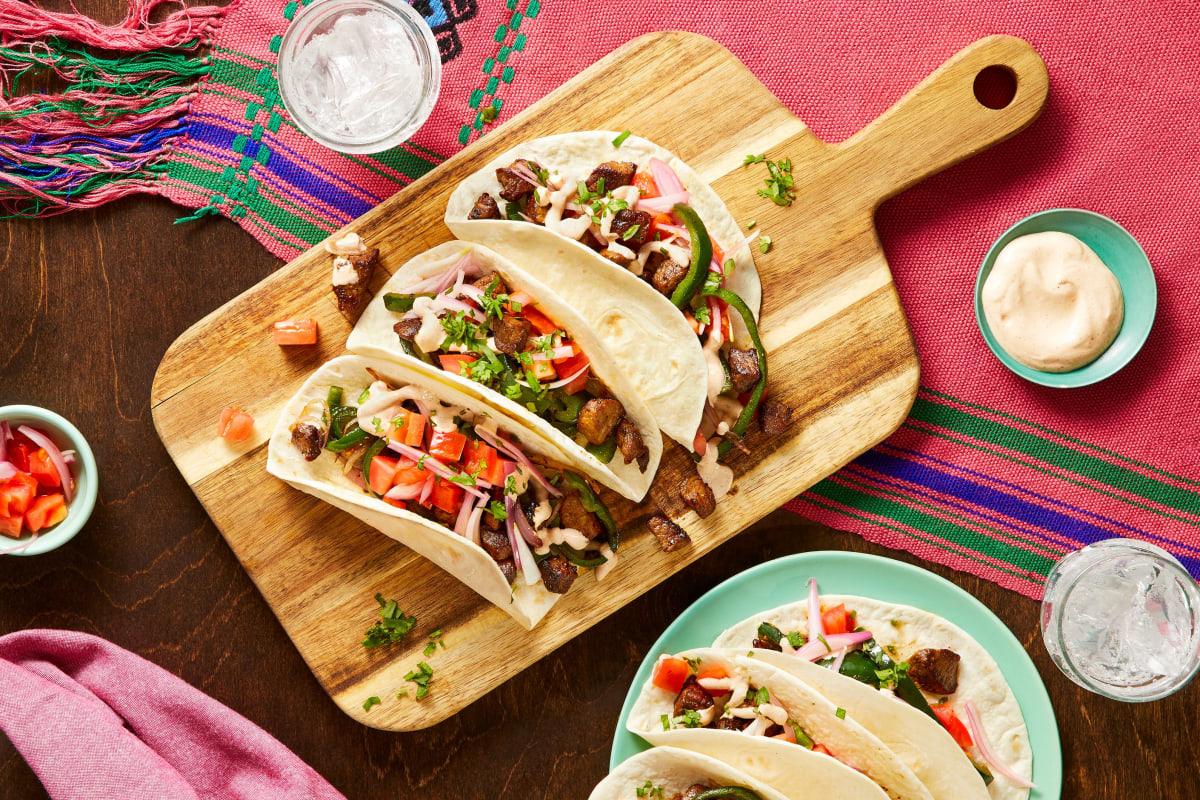 Sirloin Carne Asada Tacos