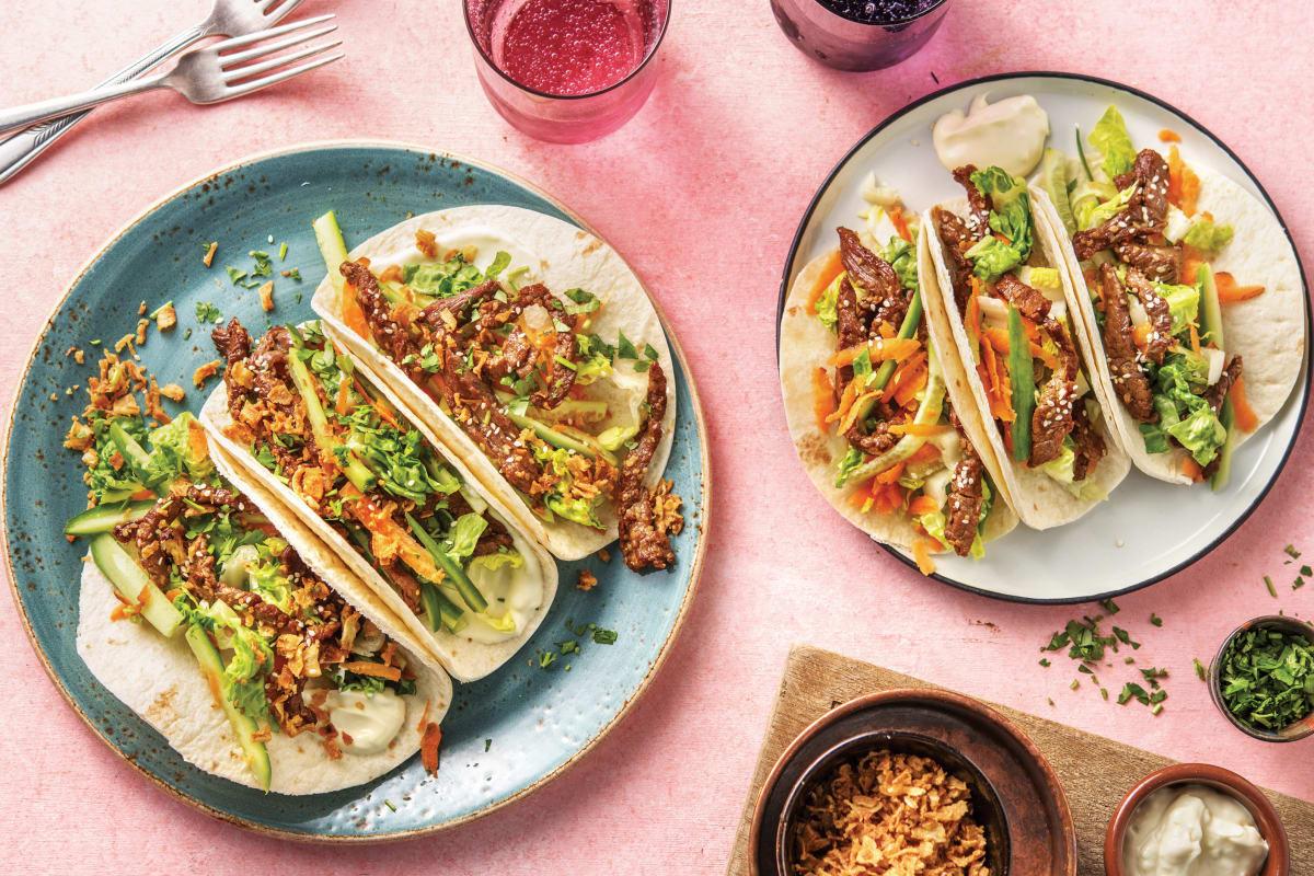 Korean-Style Beef Tacos