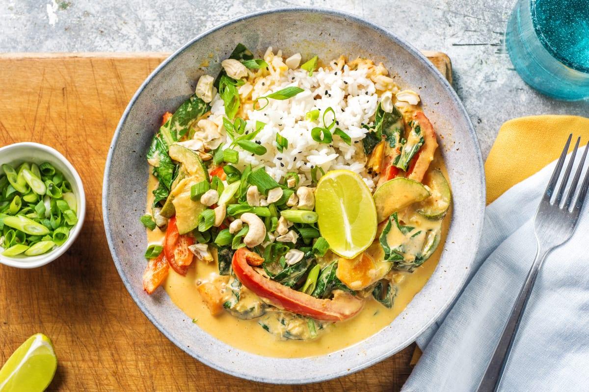 Scharfes Thai-Curry mit Baby Pak Choi