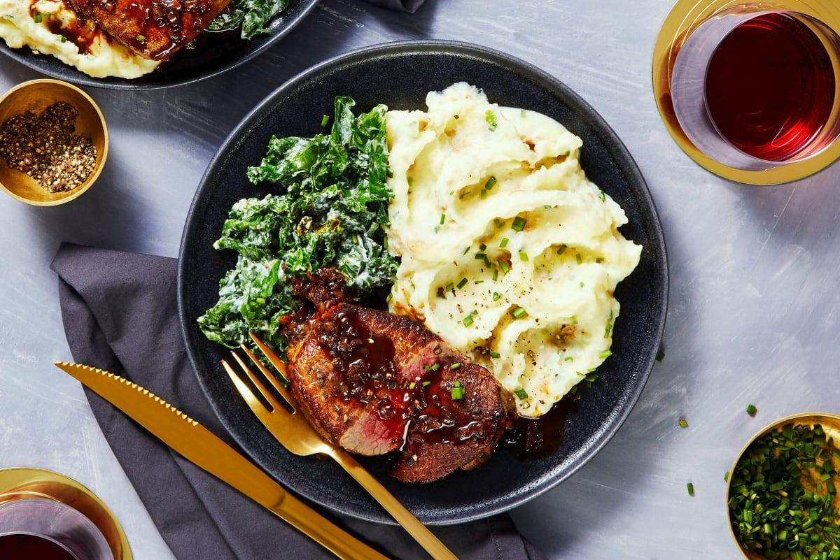 Beef Tenderloin and Shallot Pan Sauce