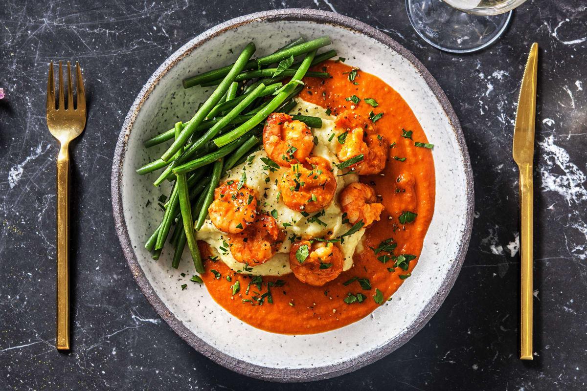 Crevettes à la sauce tomate maison