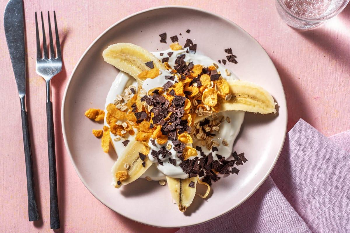 Banana split au yaourt