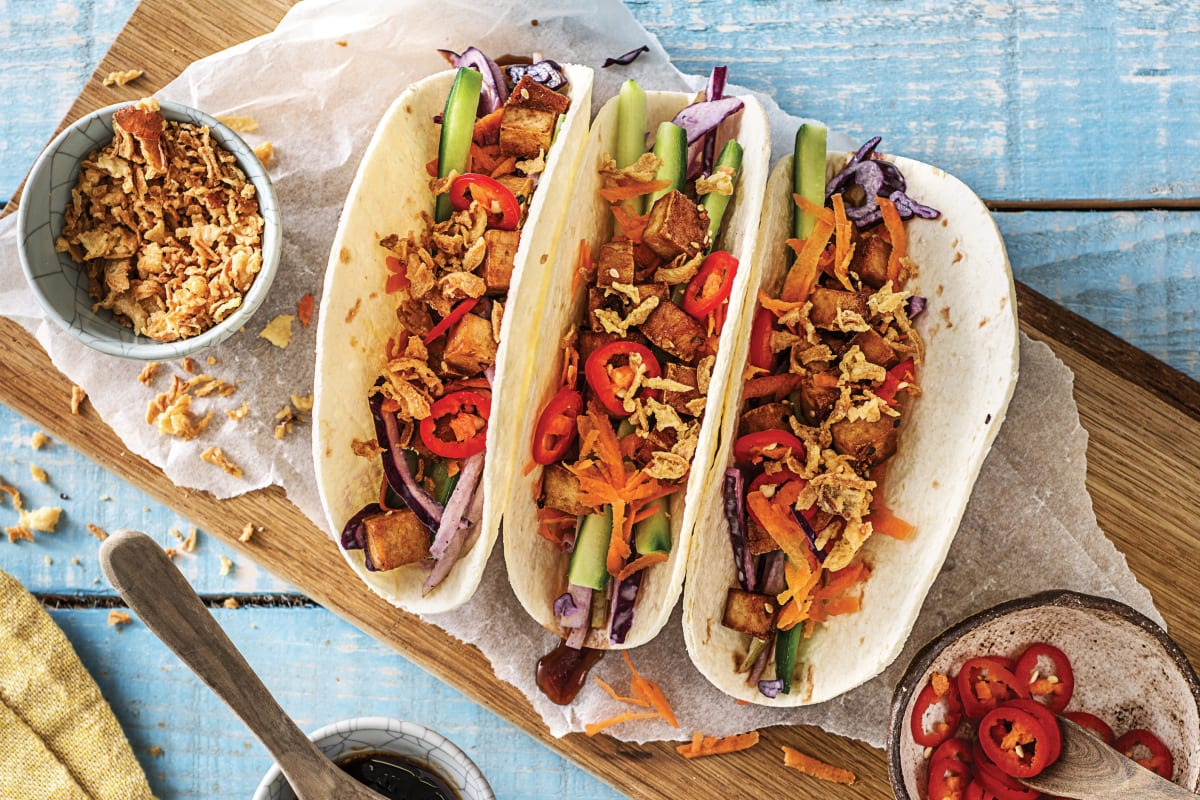 Speedy Asian Tofu Tacos