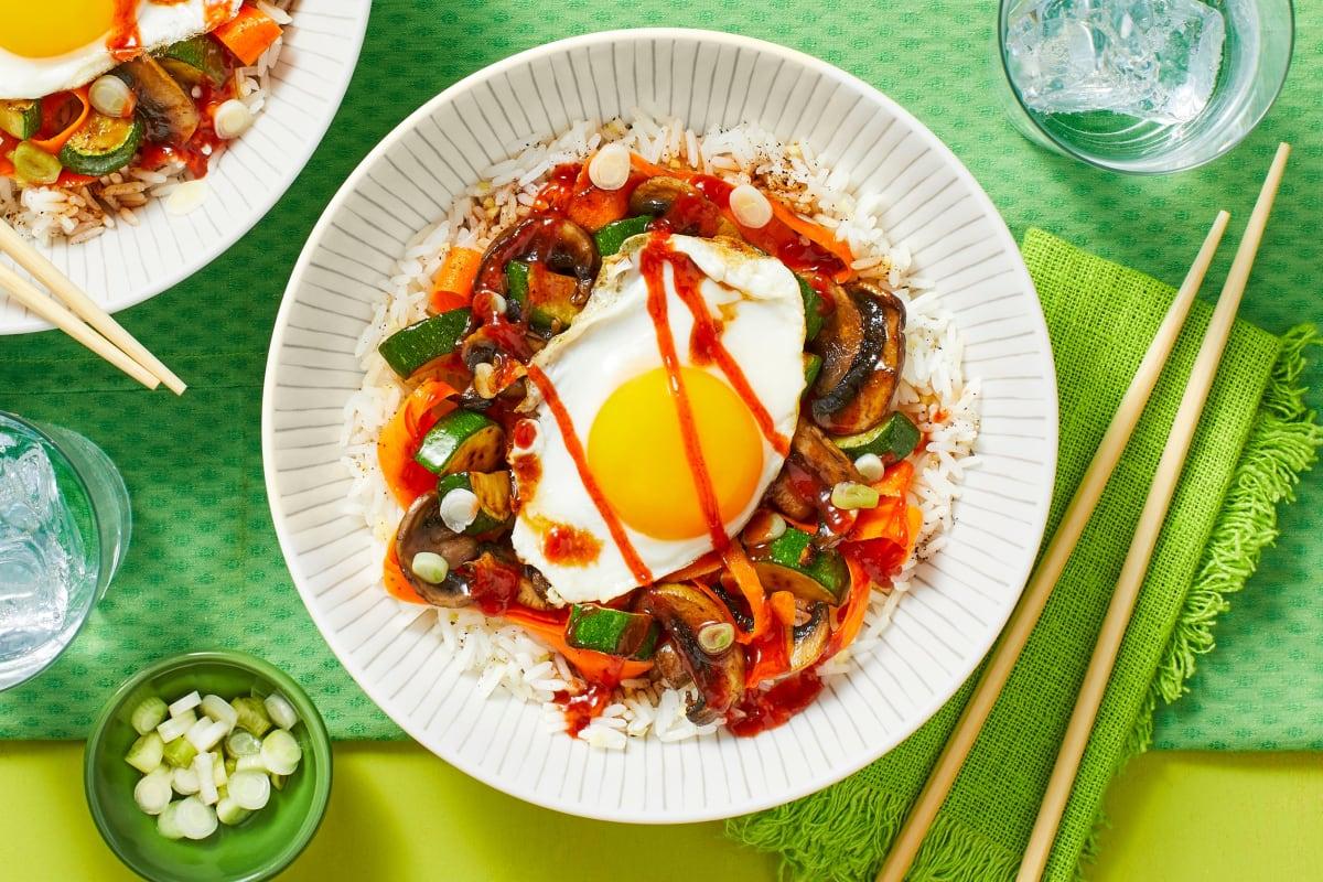 Veggie Bibimbap Rice Bowls