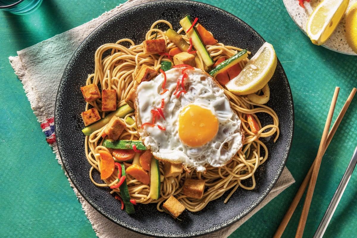 Malaysian Tofu Noodle Stir-Fry