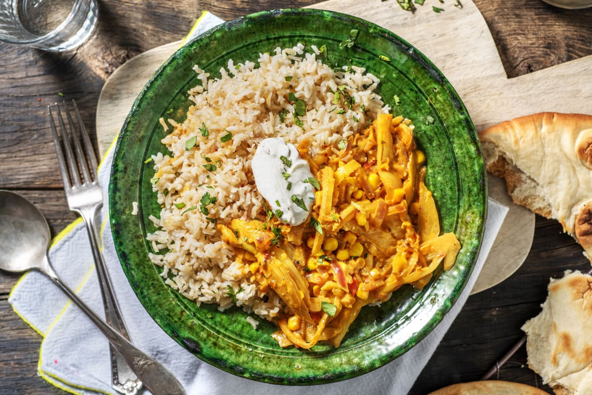 Curry à l'indienne au fenouil et au maïs