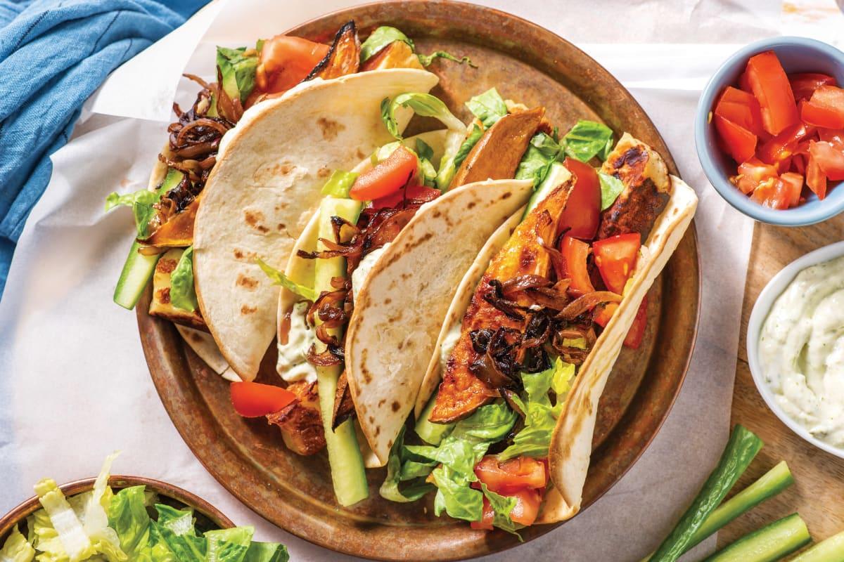 Seared Haloumi & Roasted Sweet Potato Tacos