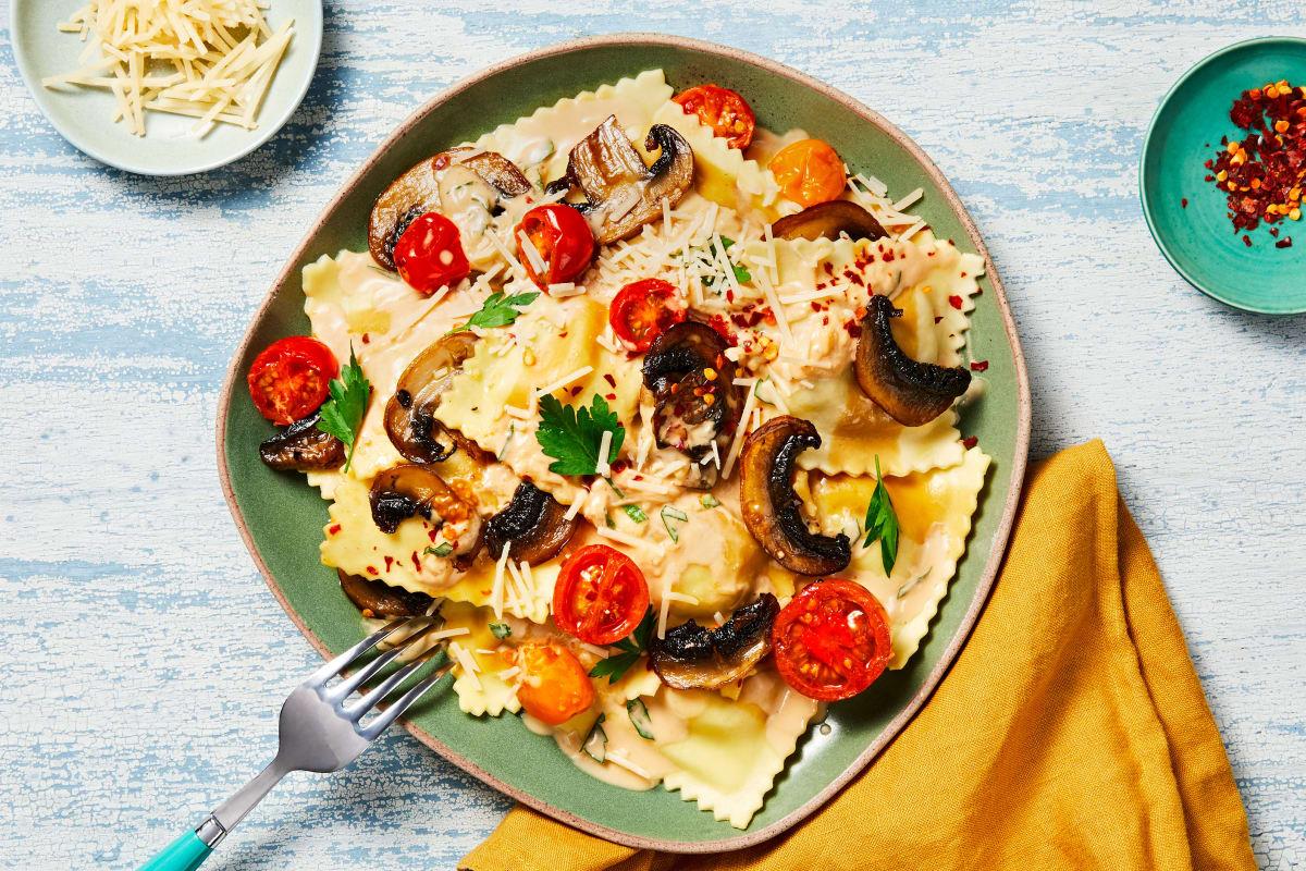 Creamiest Mushroom Ravioli