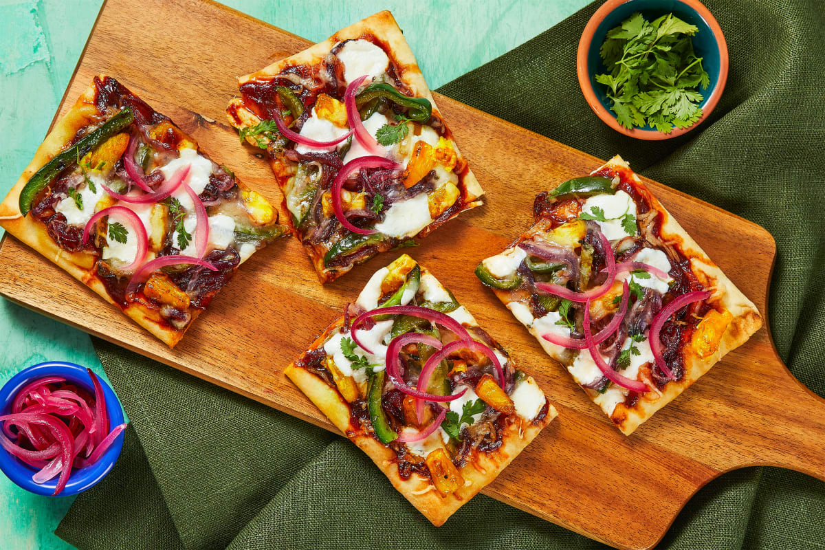 BBQ Pineapple Flatbreads