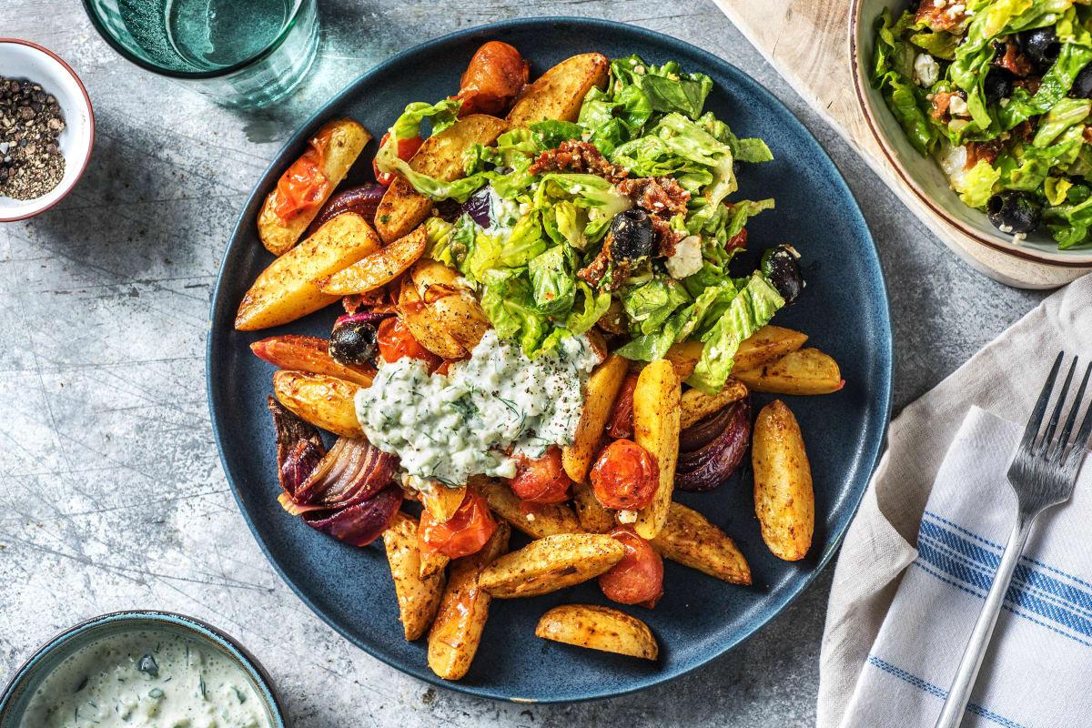 Griechische Kartoffelsalat-Bowl