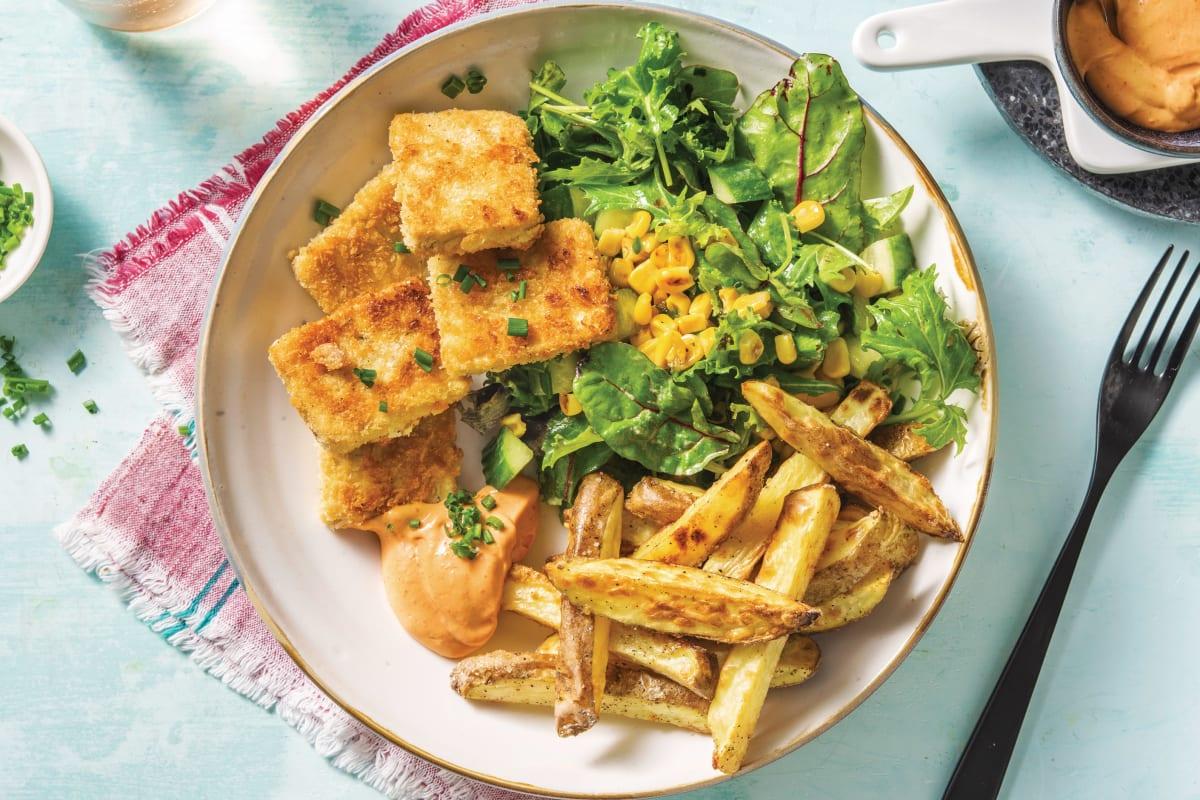 Crumbed Tofu Dippers & Fries