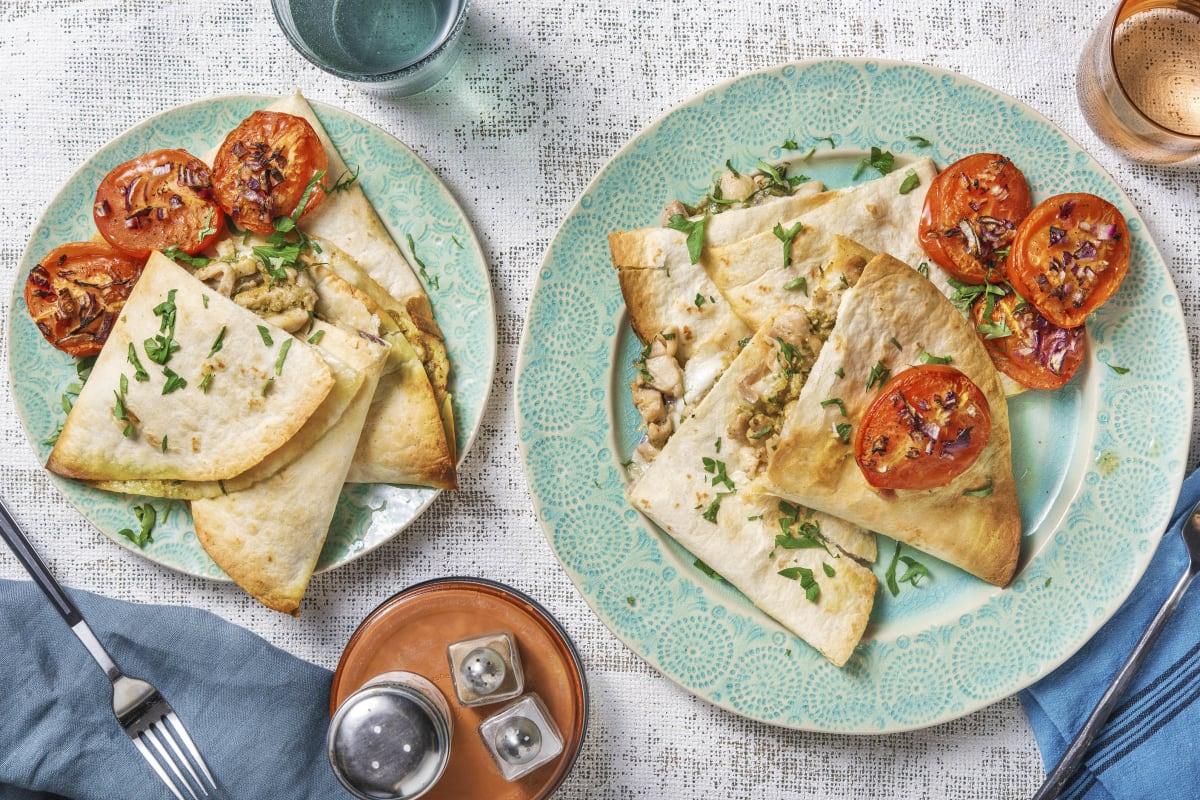 Piadina au poulet et à la mozzarella