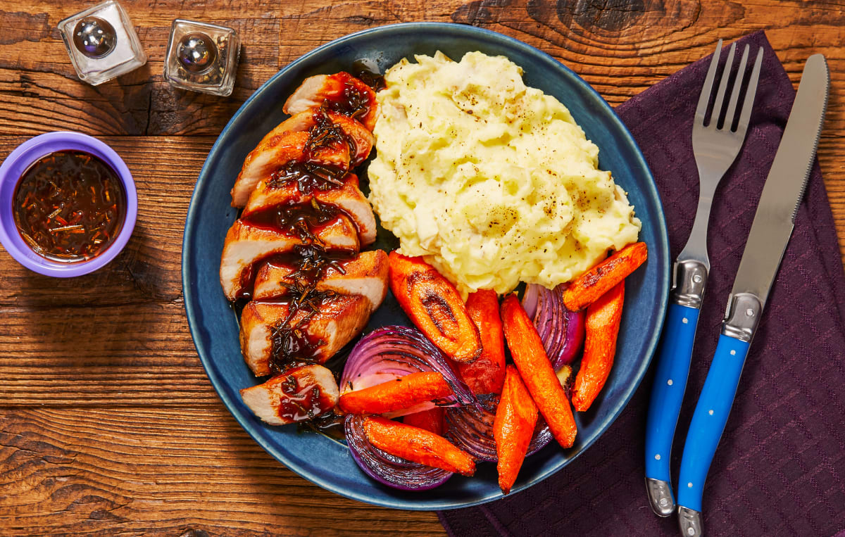 Rosemary Demi-Glace Pork Chops