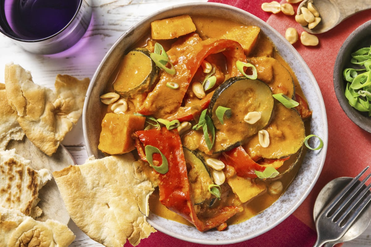 Veganes Süßkartoffelcurry