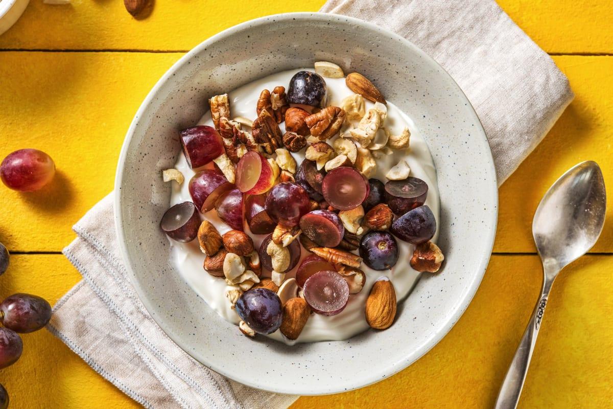 Yaourt bulgare aux raisins