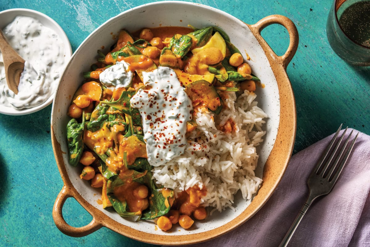 Creamy Indian Chickpea & Spinach Curry