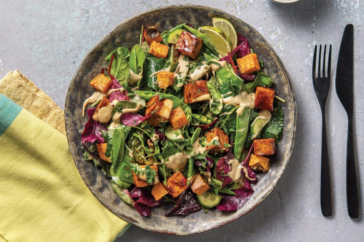 Peking-Style Tofu & Snow Pea Salad