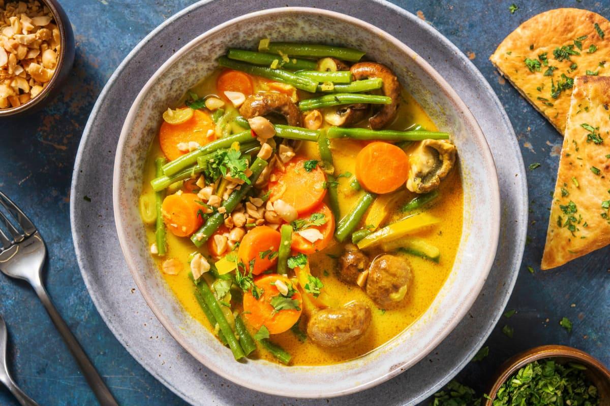 Veganes gelbes Curry mit Varoma-Gemüse