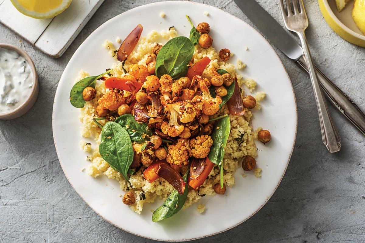 Dukkah Roasted Chickpeas & Veggies