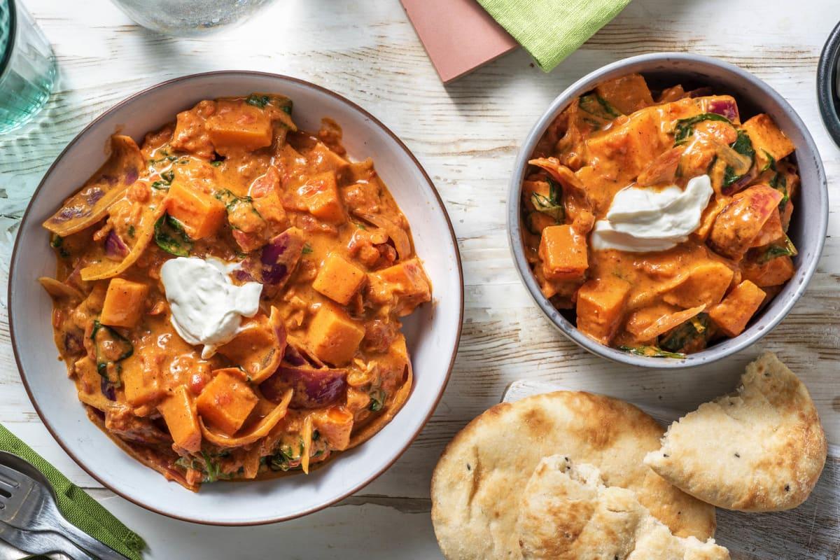 Indisches Süßkartoffel-Tikka-Curry