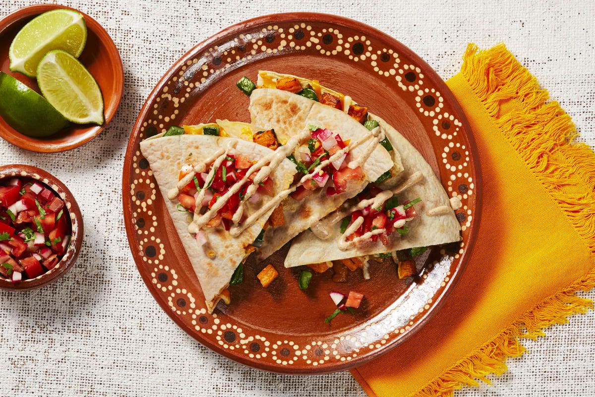 Sweet Potato & Poblano Quesadillas