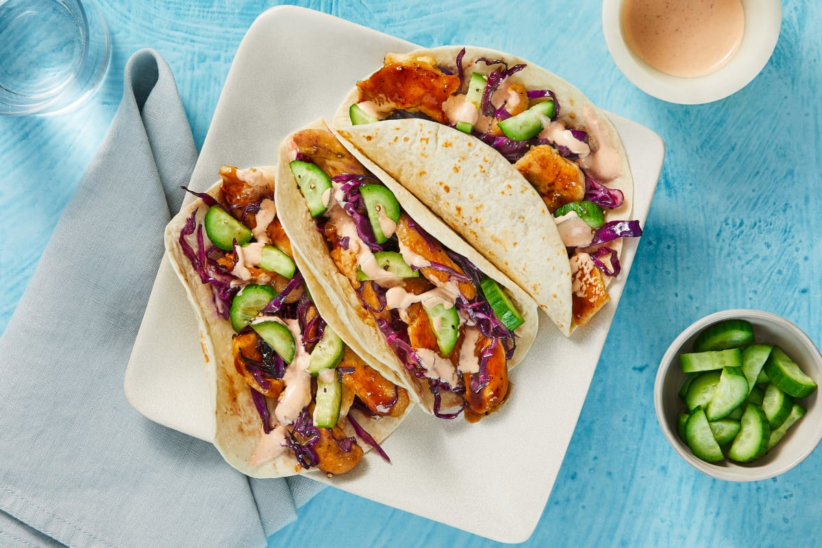 Bulgogi Chicken Tacos