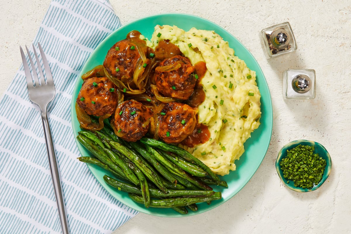 Gravy-Smothered Meatballs