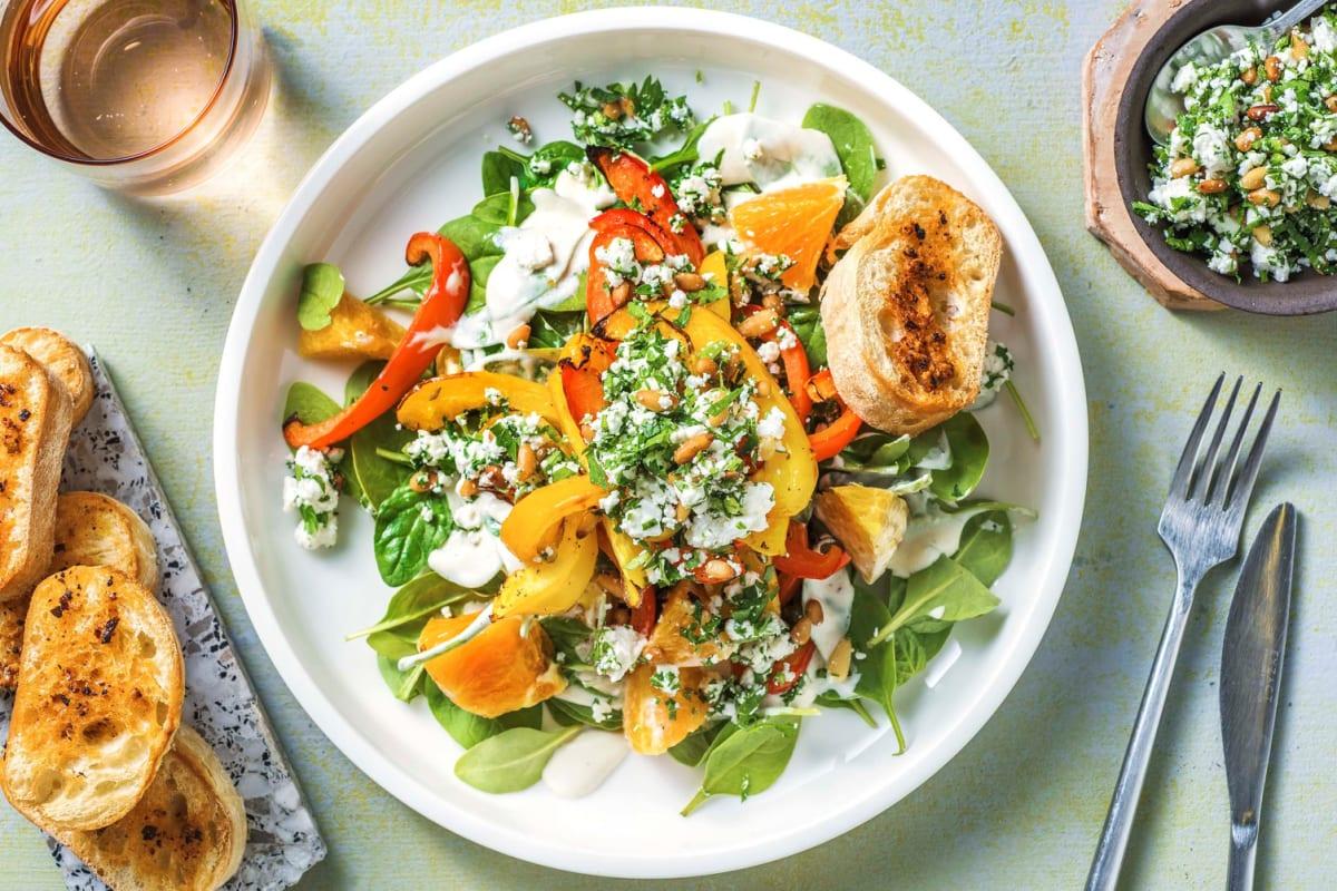Sommerlicher Spinatsalat