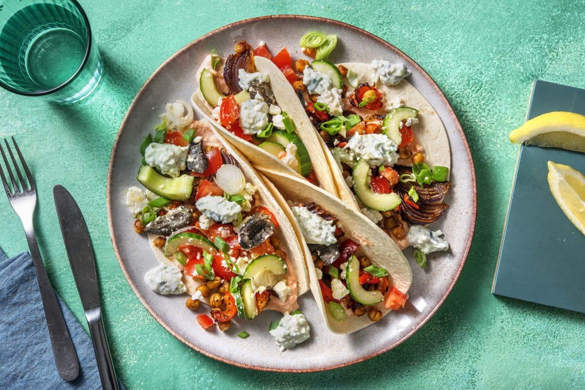 Griechische Tacos mit Zaziki