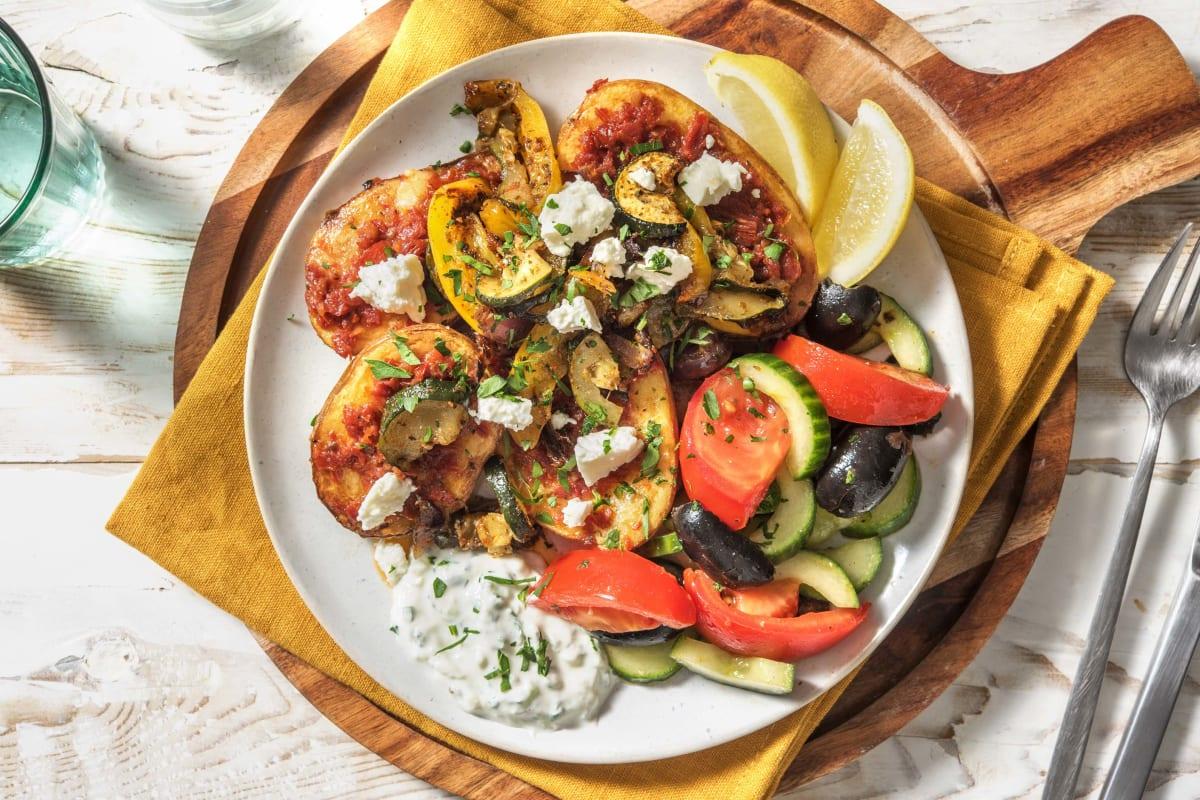 Griechische Ofenkartoffel mit Hirtenkäse
