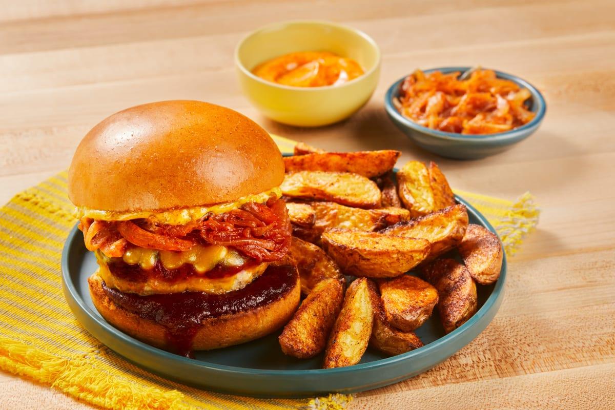 BBQ Cheddar Pork Burgers