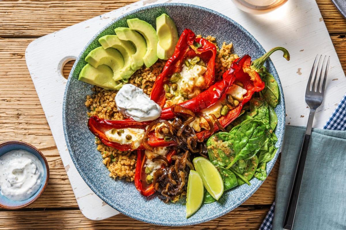 Couscous-Bowl mit Pistazien und Avocado