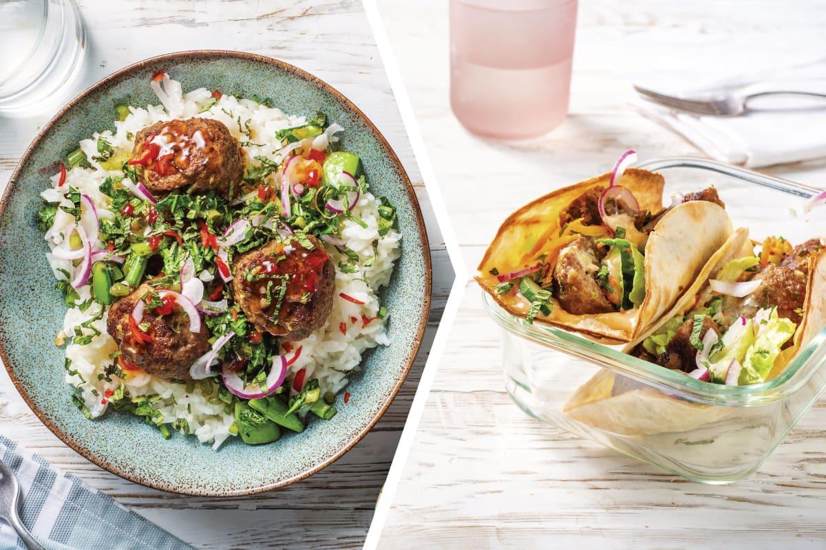Pork Bun Cha Rice Bowl for Dinner