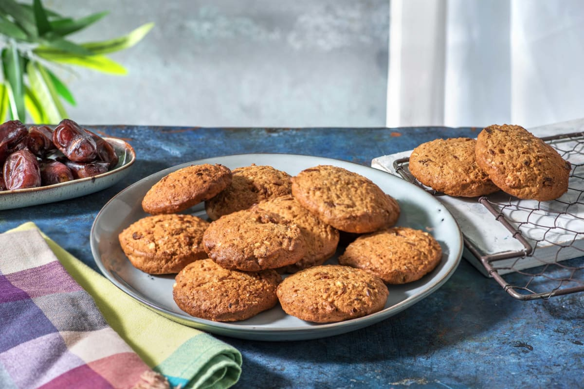 Cookies à l'avoine, aux dattes et au beurre de cacahuètes