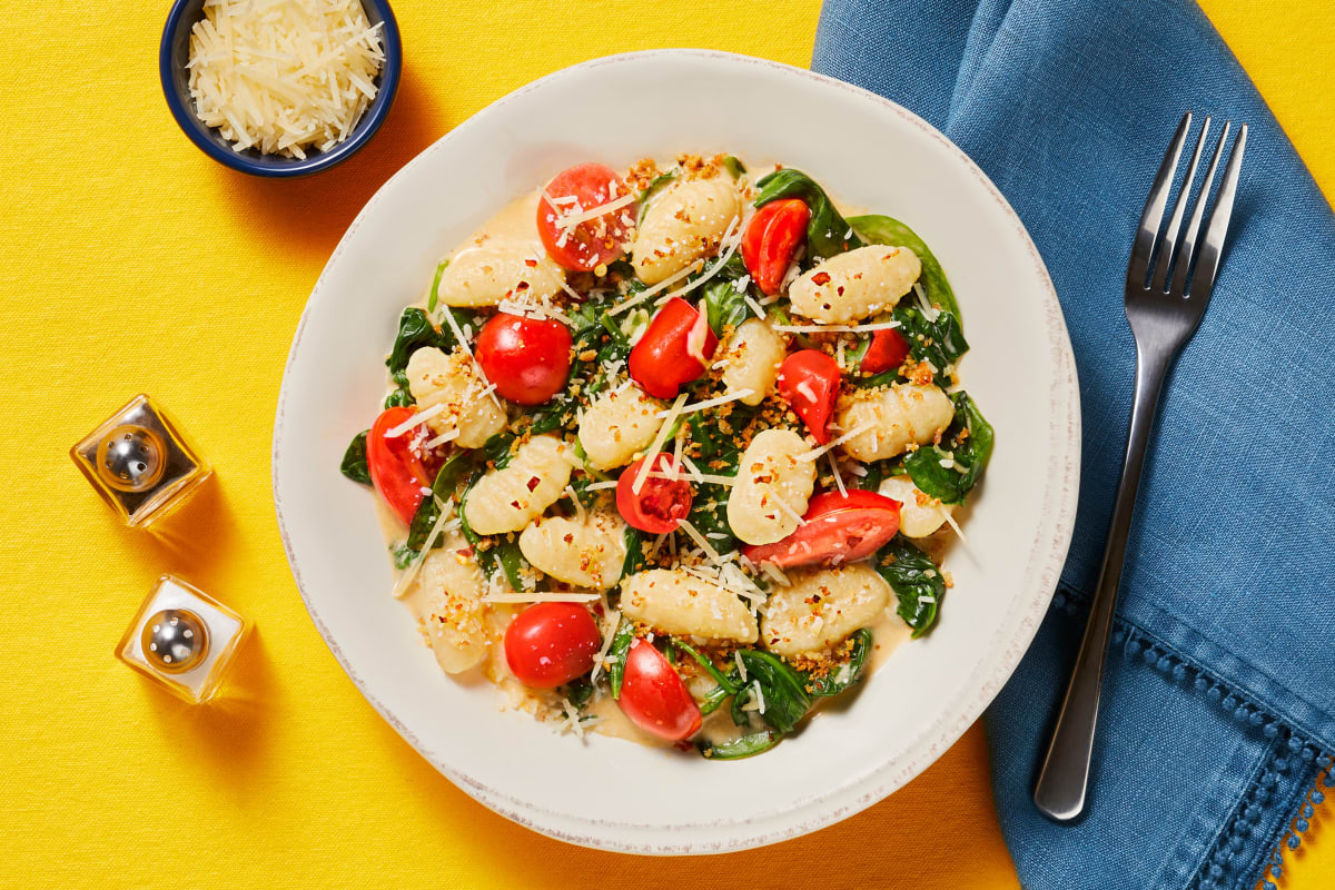 Gnocchi with Spinach & Grape Tomatoes