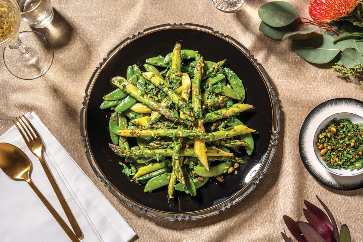 Sautéed Asparagus & Snow Peas