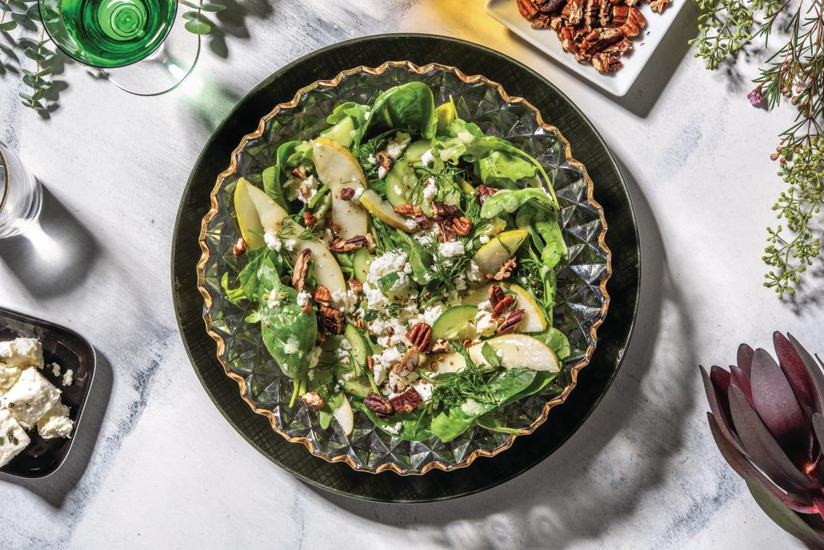 Pear & Pecan Green Salad