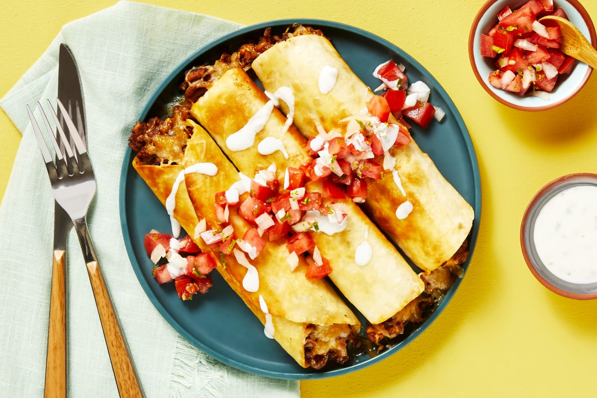 Pork Flautas Supreme Recipe Hellofresh