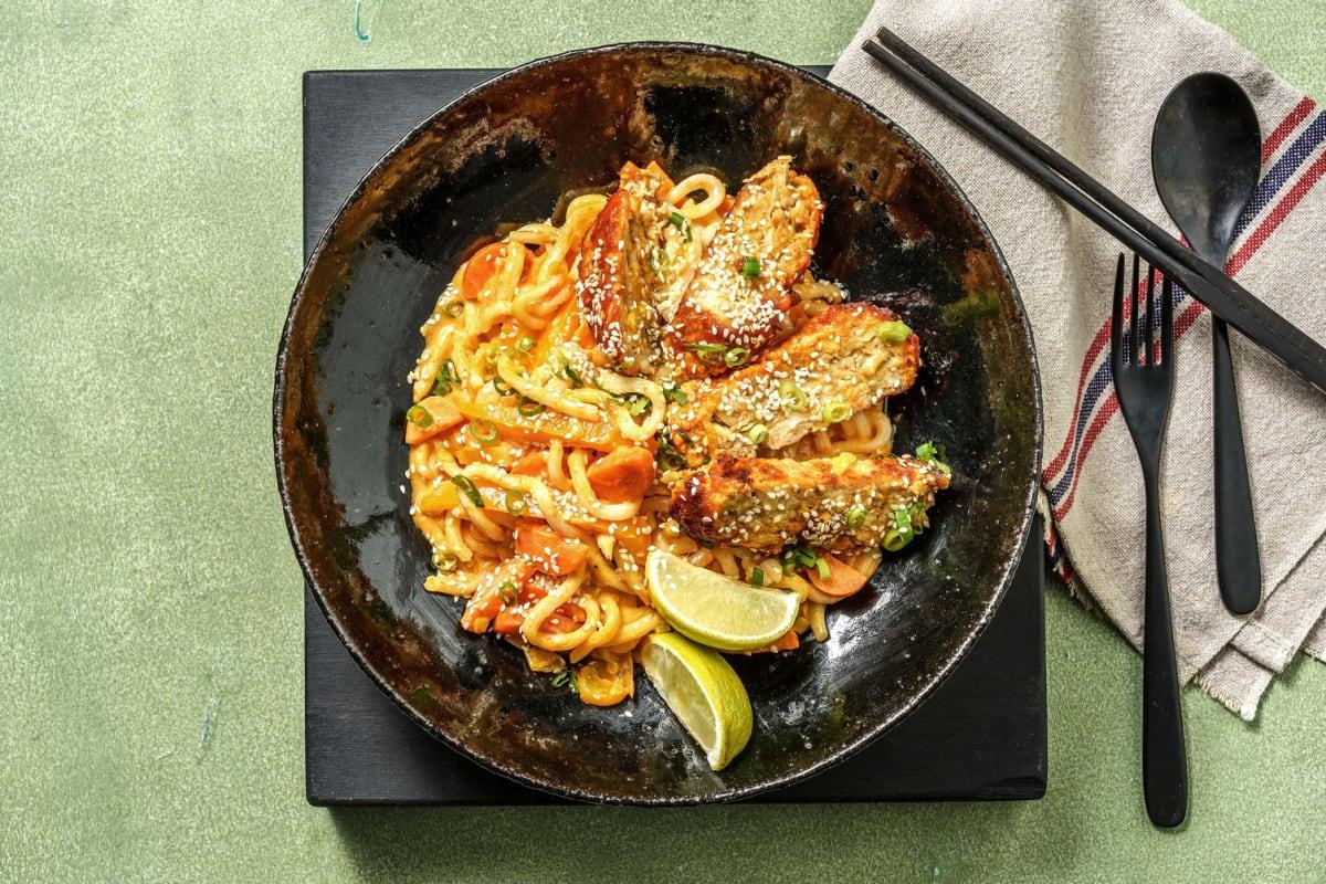 Pain de viande à l'asiatique au curry rouge
