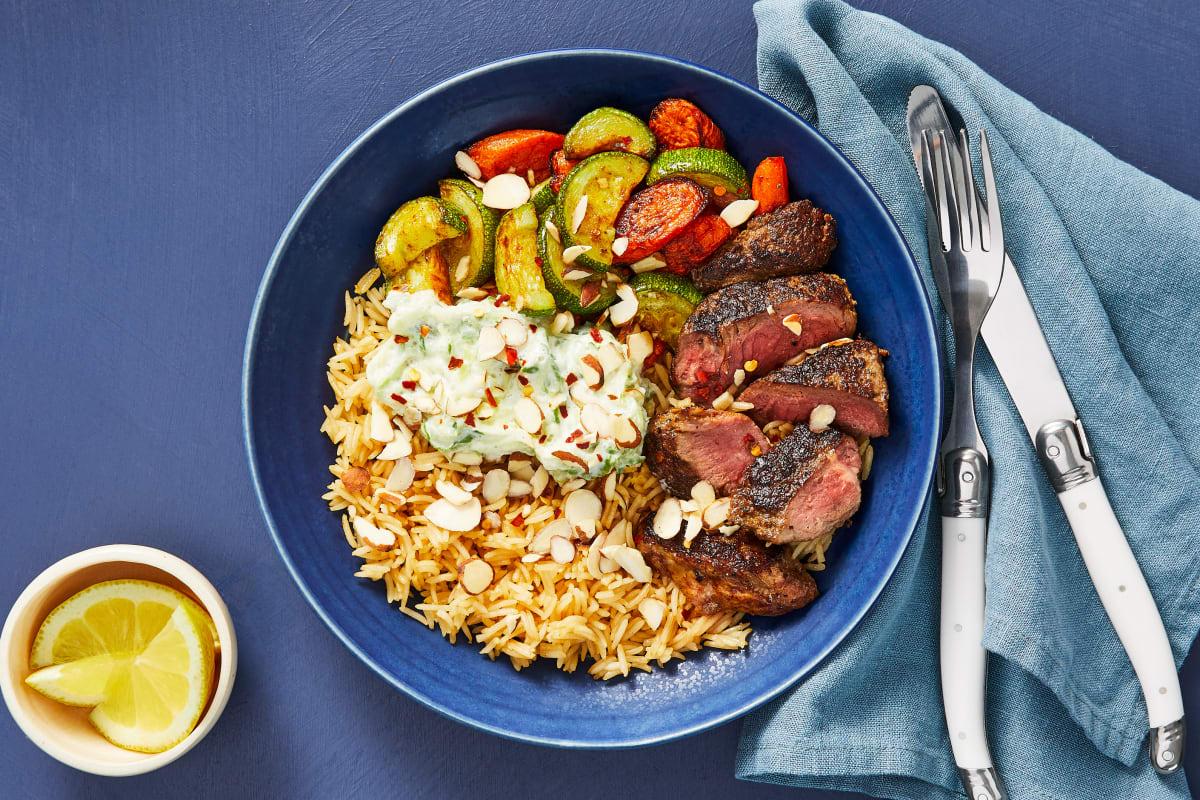 Middle Eastern Steak & Rice Pilaf