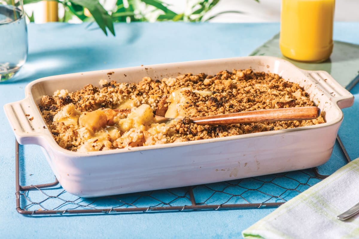 Spiced Apple & Pear Crumble