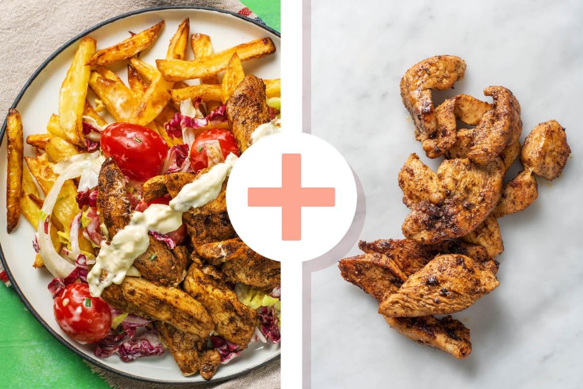 Gyros façon kebab avec double portion de poulet