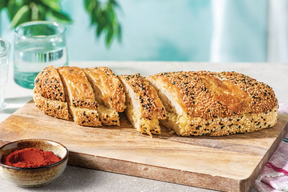 Smoked Paprika Garlic Bread