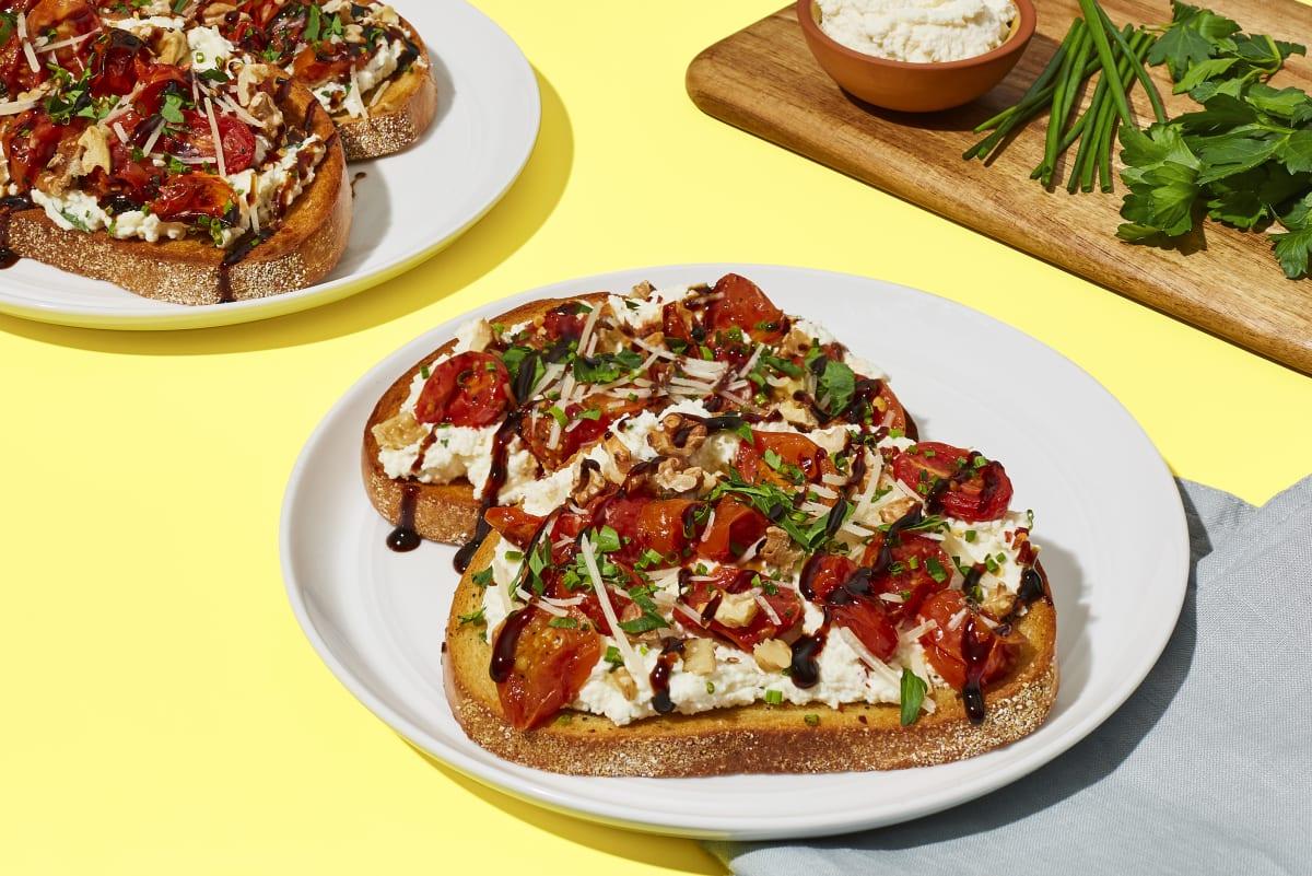 Charred Tomato & Ricotta Toasts