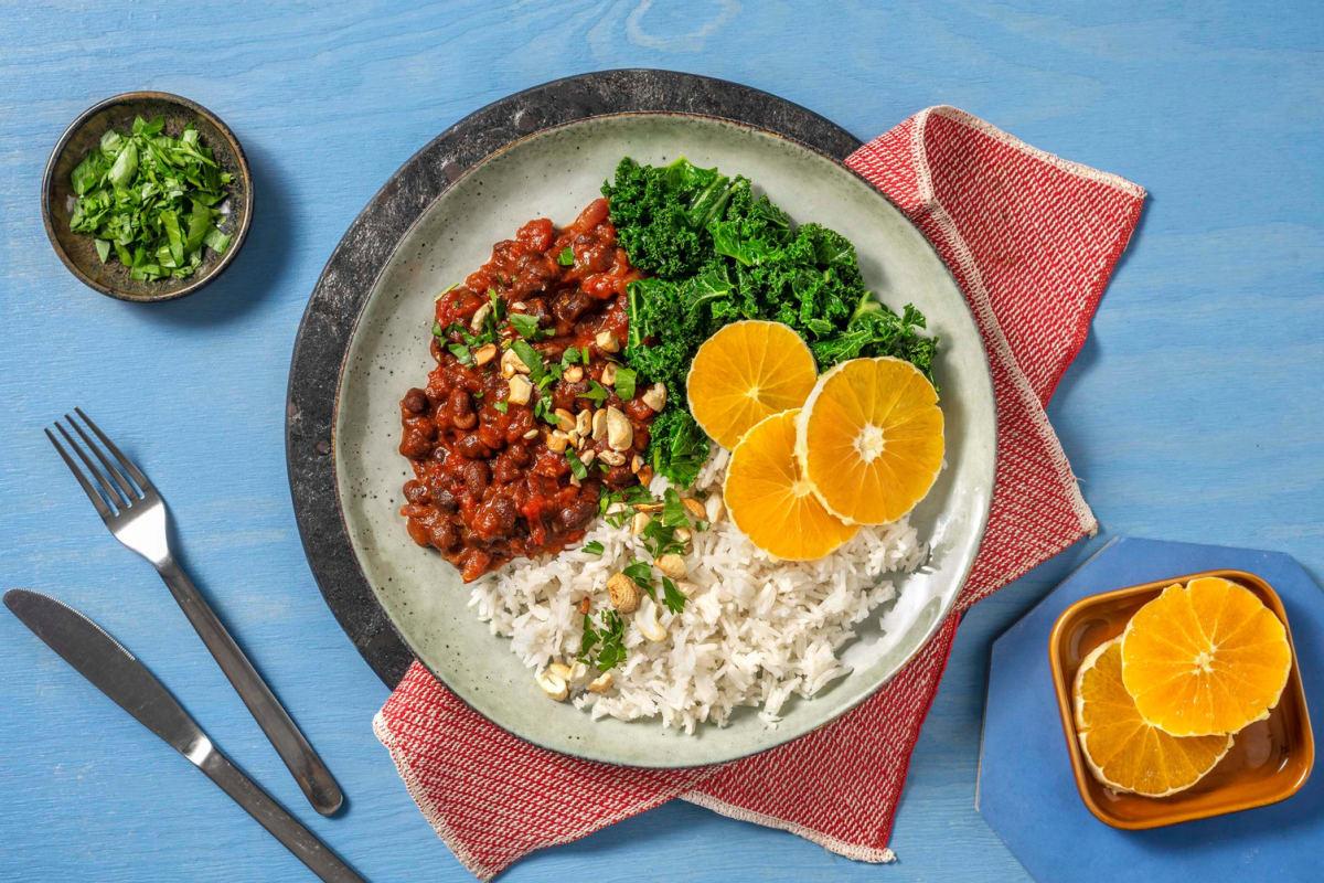 Feijoada végétarienne et riz