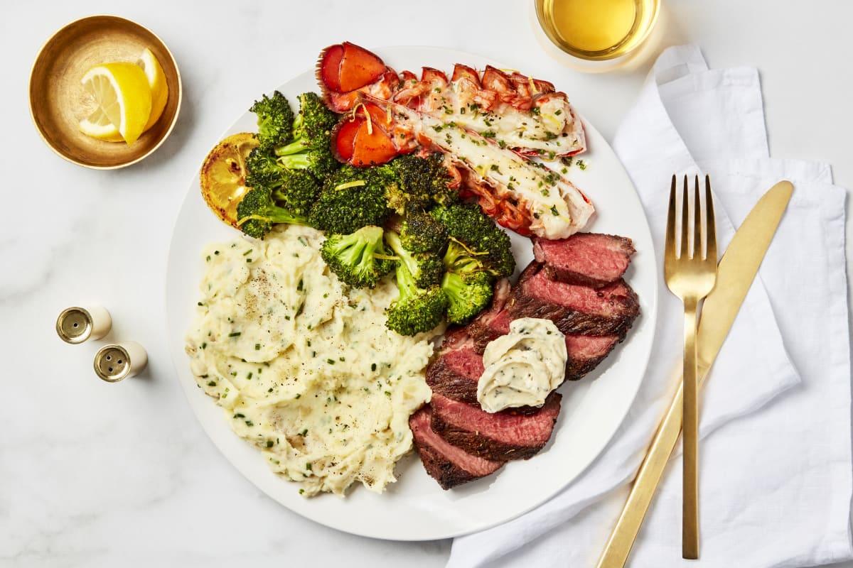 Garlic Herb Butter Steak & Lobster Tail