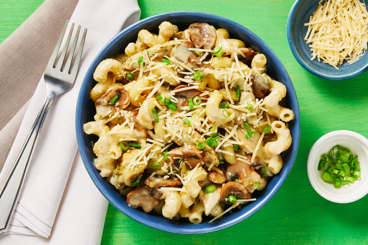 Creamy Chicken & Mushroom Cavatappi